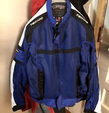 TEKNIC SUPERVENT BLUE MESH MOTORCYCLE JACKET 46 US W SHOULDER/ELBOW PADS ~ Clean