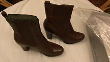 Women's Kenneth Cole New York Brown Leather Urban Land Mid Calf Boots 10 M NIB