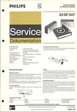 Philips Original Service Manual Phono 22 GF 347