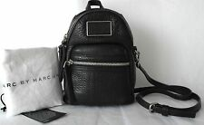 New Auth Marc By Marc Jacobs Biker Leather mini backpack cross body bag black