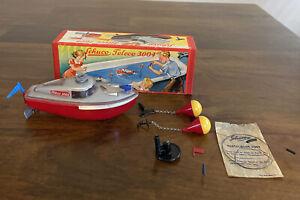 RARE Vintage Schuco Teleco 3004 Toy Boat With Box
