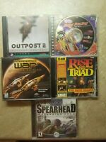 Pc Game Lot (5) Outpost 2 NHRA Independence War Rise Of The Triad Medal Of Honor