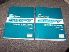 2000 Suzuki Swift Hatchback Workshop Shop Service Repair Manual Set GA GL 1.3L