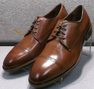 150436 MS50 Men's Shoes Size 10.5 M Dark Tan Leather Lace Up Johnston & Murphy