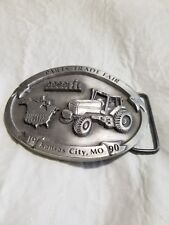 Pewter Belt Buckle - 1990 KC, MO IH Case - Parts Trade Fair
