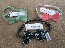 Janie and Jack Headband With Bow , Lot of 4 ,Newsith tags, one size  fits all