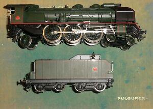 BO Fulgurex locomotive vapeur 231 G 121 SNCF Tender 30 A 80