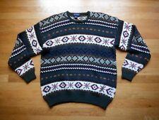 Vintage Retro Britches Sweater L 100% Cotton Nordic Snowflake Slouchy Unisex