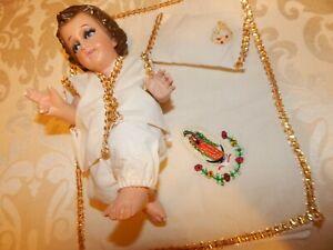 Baby Jesus pijamas set con cobija/ juego de pijamas Juan Diego de manta 15 cms
