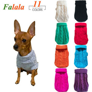 New Small Pet Dog and Cat Winter Autumn Warm Sweater