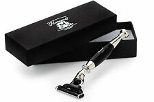 Luxury Mens Razor In Black & Metal Handle With 3 Edge Razor For Best Clean Shave