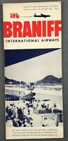 BRANIFF INTERNATIONAL AIRWAYS AIRLINE TIMETABLE APRIL 1952 ROUTE MAP