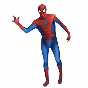 Adult-M Gakin Spider Man Cosplay Costume Lycra Spandex Superhero Zentai Bodysuit for Adults//Kids Black