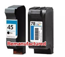 1x HP45+ 1x HP78 ink cartridges for HP R80 T46 830 950 printers, Remanufactured