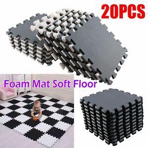 20 Large Soft Foam EVA Kids Floor Mat Jigsaw Tiles Interlocking Garden Play Mats