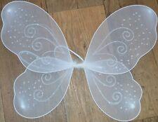 NEW White net fairy wings glitter/swirl Adult childrens party hen do fancy dress