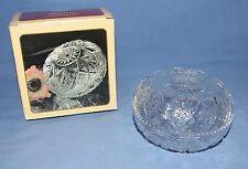 Borgonovo Crystal Trinket Bowl or Dish w/ Lid - Cut Glass Design - Made in Italy