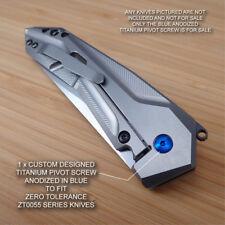 Zero Tolerance ZT0055 0055 Custom Titanium Pivot Screw BLUE - NO KNIFE INCLUDED