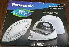 Panasonic Cordless 360-Degree Freestyle Steam Iron (Blue) NI-WL600 NIB LOOK