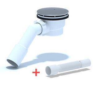 Duschablauf Ablaufgarnitur Abfluss Siphon für Duschtasse Duschwanne Ø 90mm E326C