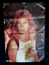 Vintage David Lee Roth Hit Mag Poster Van Halen Judas Priest Quiet Riot 1980s