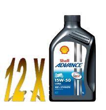 OLIO MOTO 4T SHELL ADVANCE ULTRA SINTETICO 15W50 12x1 litro