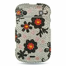 For BlackBerry Bold Touch 9900/9930 Silver Black Hard Rhinestone Case Cover