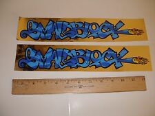 MID SCHOOL NOS BULLY BMX SMALL BLOCK  FRAME DECALS