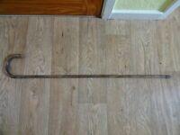Antique one piece crook handle walking stick Length 84 cm Light weight.