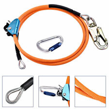 12 X 10 Steel Wire Core Lanyard Kit With Hook Carabineer Safety Tree Climbing