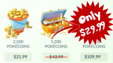 PokeCoins | 5.200 Pokemon Go Coins for only $29.99!
