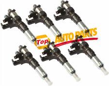 6PCS New Fule Injector  23670-E0010 09500-06593  Fits Hino JO8E Kobelco SK3008