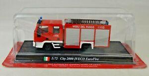 DelPrado City 2000 Iveco EuroFire Fire Truck 1:72 Scale Mint In Unopened Box