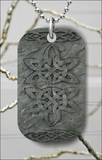 CELTIC KNOT #2 DOG TAG NECKLACE PENDANT FREE CHAIN -sdf5Z