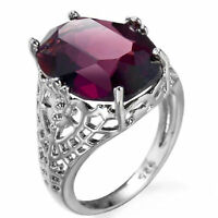Plata 925 Anillo Mujeres de moda Joya amatista anillo de compromiso joyas Joya