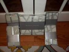 NIP Barbara Barry Sanctuary Scroll Patina Full Queen Duvet Cover Set 5pc