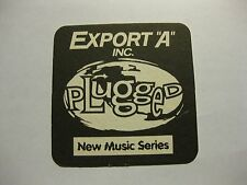 """Export """"A"""" Cigarettes Beer Mat Canada Plugged New Music Series Canada"""