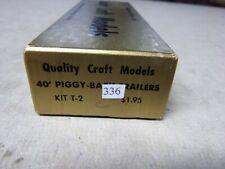 #123B HO-CRAFT KIT- 40' PIGGY BACK TRAILERS KIT OF 2 / QUALITY CRAFT  T-2