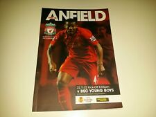 301) Liverpool v BSC Young Boys programme Europa League 22-11-2012