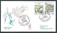 2000 ITALIA FDC VENETIA 1068 OLIMPIADI DI SIDNEY TIMBRO DI ARRIVO - ED