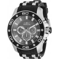 Invicta Men's Watch Pro Diver Chronograph Charcoal Dial Two Tone Strap 30778