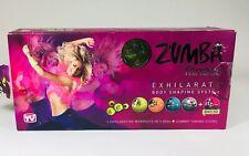 Zumba Fitness Exhilarate Body Shaping System 5 DVD Set +Toning Sticks & Guide