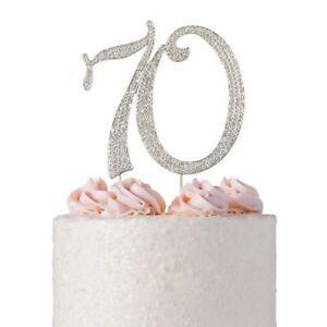 Crystal Creations Cake Topper | Premium Sparkly Rhinestone | 70th Birth