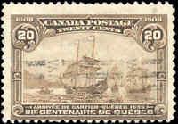 Used Canada 1908 20c F Scott #103 Quebec Tercentenary Issue Stamp