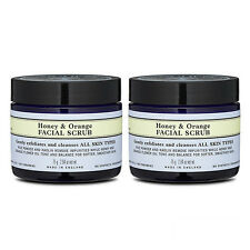 2X Neal's Yard Remedies Honey & Orange Facial Scrub 75g x2=150g Cleanser #8234_2