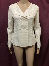 DIGBYS JACKET COAT WOMEN ~ SIZE 8 ~ NEW W/O TAGS SEQUINS DESIGN DOUBLE BREASTED