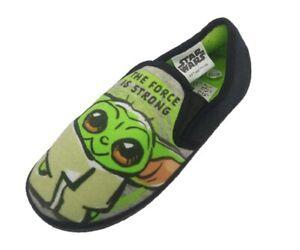 Boys Girl Kid Baby Yoda Star Wars Slipper Soft Slip On Size 8 9 10 11 12 13 1 2