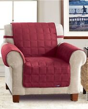 Sure Fit Soft Faux-Suede Waterproof Pet Chair Slipcover Throw, Burgundy.