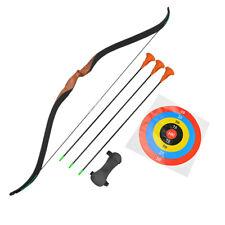 Youth Recurve Bow Arrow Set Wooden Archery Junior Target Children Kids Gift