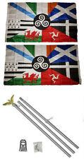 3x5 Celtic Nations Irish Provinces 2ply Flag Aluminum Pole Kit Set 3'x5'